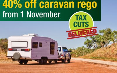 Caravan Rego Savings Rolling In