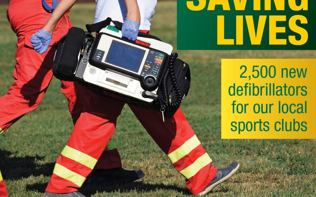 Local Sports Clubs Receive Life-Saving Equipment
